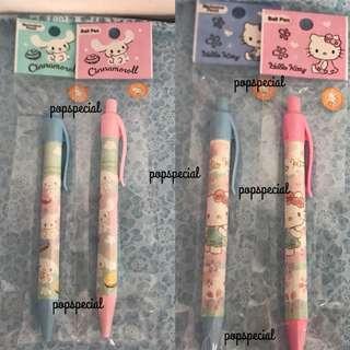 Last SET Each Cinnamoroll Hello Kitty Ball Pen Blue Mechanical Pencil