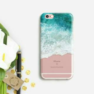 Summer Sea Waves Clear Case