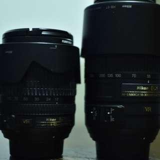Nikon AF-S DX 18-105mm & AF-S DX 55-300mm