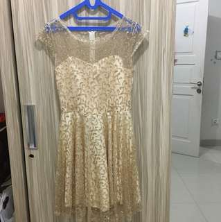Preloved dress glitteer