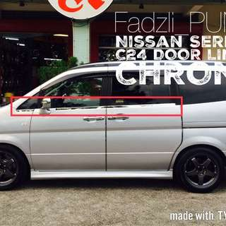 Nissan Serena C24 Door Lining Chrome
