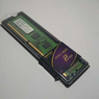 2GB Ram DDR31600MHZ for desktop pc