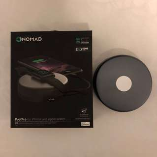 Nomad Pod Pro External Battery Apple Watch iPhone 6000mAh