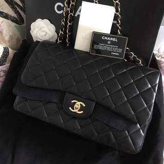 全新 New Chanel classic jumbo bag