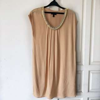 Peach MANGO Shift Dress