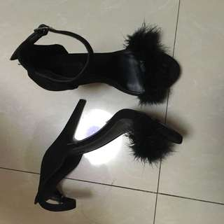 Forever21 furry heels