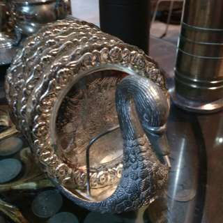 Coaster silver plated antik