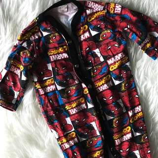 Marvel Spiderman long sleeved romper