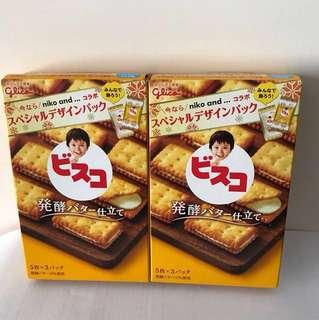 購自日本 未開封 Glico 固力果夾心餅