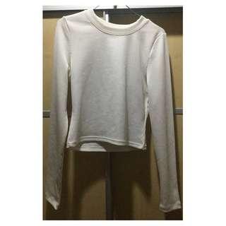 Preloved H&M White Long Sleeved Top