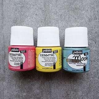 Pebeo Ceramic Air Dry Paint, Assorted