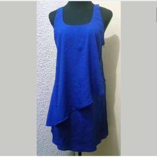 WA313 Foreign Exchange Blue Dress Large (EUC)