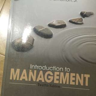 Introduction to Management 12th Edition ORI