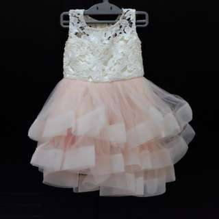 AudreyBCouture Pink Lace Dress