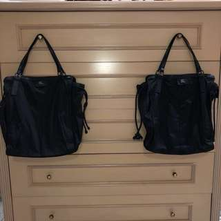 AUTHENTIC Burberry packable nylon tote - black
