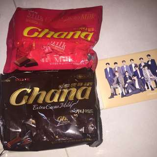 WANNA ONE GHANA CHOCOLATE + OFFICIAL POSTCARDS