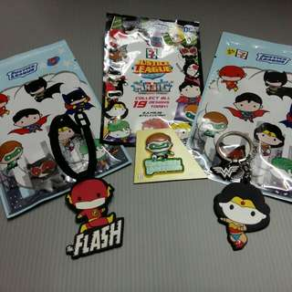 SUPER HERO 3 in 1 set (tag bag, key chain, magnet)