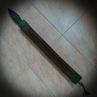 Antique barber leather for shaving knife