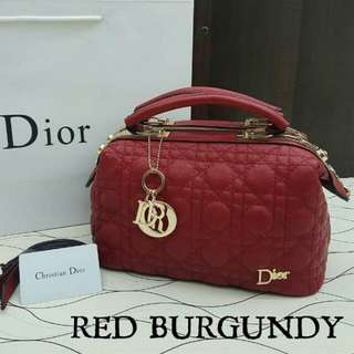 Dior Doctor Satchel Bag Red Burgundy