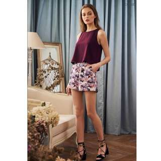 BNWT The closet lover cial floral printed shorts
