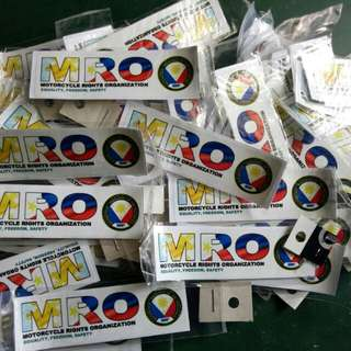 Orig MRO Stickers not Reproduced,with serial numbers