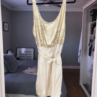 Witchery Gold Sequin Cocktail dress