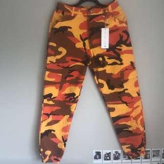 Orange Camo Pants