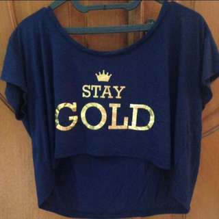 Crop Top Stay Gold Pull&Bear
