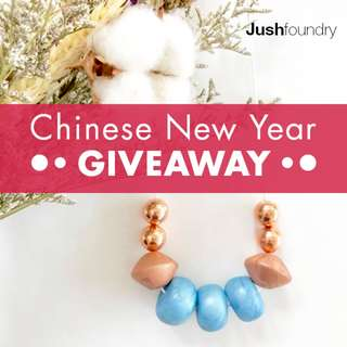 Rose gold beaded necklace GIVEAWAY