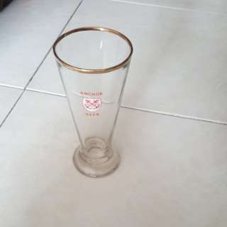 Vintage tall Anchor Beer Glass