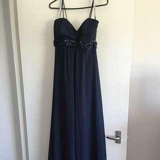 Navy Blue Formal/bridesmaids Dress