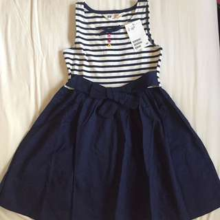 H&M Brand New Navy striped dress