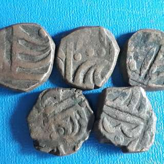 5 COINS LOT - SITAMAU State - Copper Coin - india