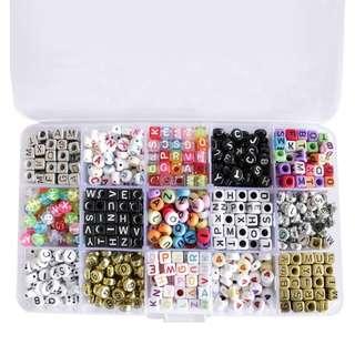 Assorted alphabet beads
