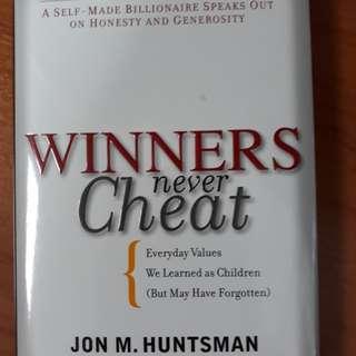 NEW! Winners Never Cheat ❤Everyday Values!I
