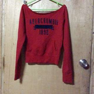 Abercrombie red sweater