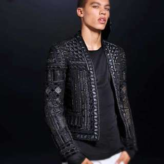 balmain x H&M embroidered jacket