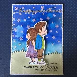 Valentine day handmade card