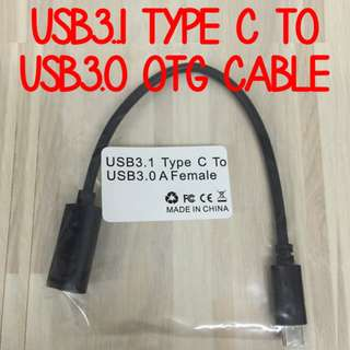 USB3.1 Type C to USB 3.0 Female OTG Cable