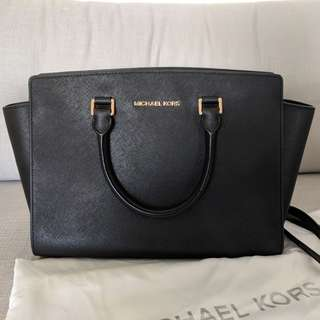 Michael Kors  Selma Saffiano leather bag in Medium + shoulder strap