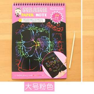 Scratch Paper Note Book - Drawing scribbling (pink)