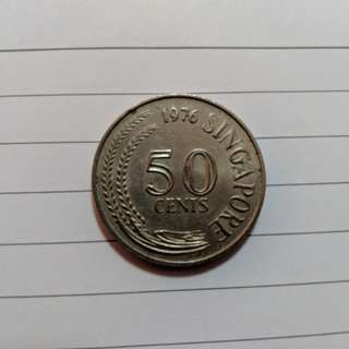 1976 50cent Old Coin - Rare
