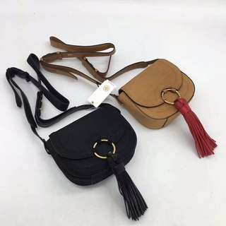 Tory Burch Tassel Mini Saddle Bag