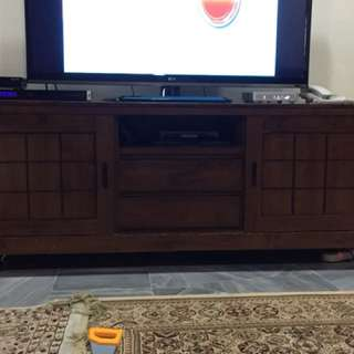 TV console rubber wood.