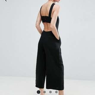 ASOS Minimal Linen Jumpsuit with Open Back / UK8