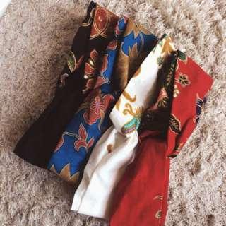 Batik headbands!