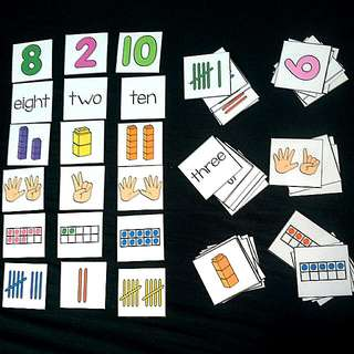 DIY Math Match-up (1-10 number) - 60cards