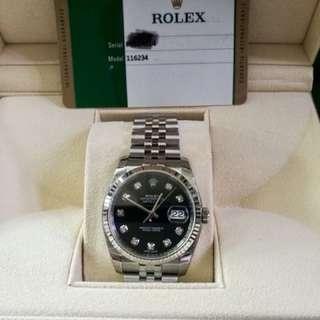 Rolex Oyster perpetual Datejust 黑底礸