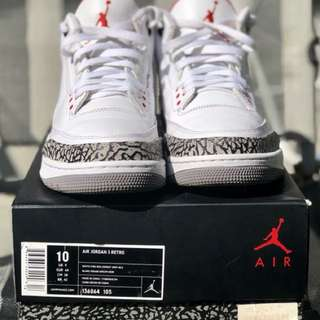 Jordan 3 White Cement
