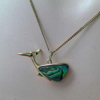 Ariki 22k Plated Genuine Paua Shell Necklace Zealand ori